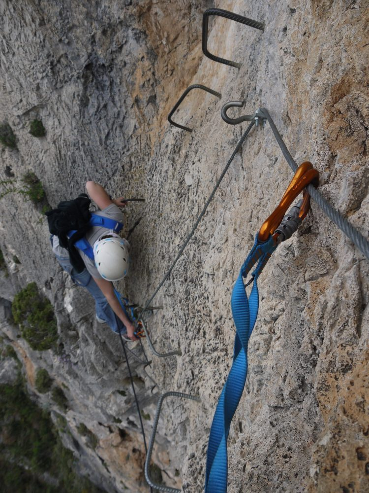 Via ferrata - outdoor sports in Cote d'Azur