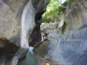 canyoning in the extreme spot of the French Riviera: la Maglia