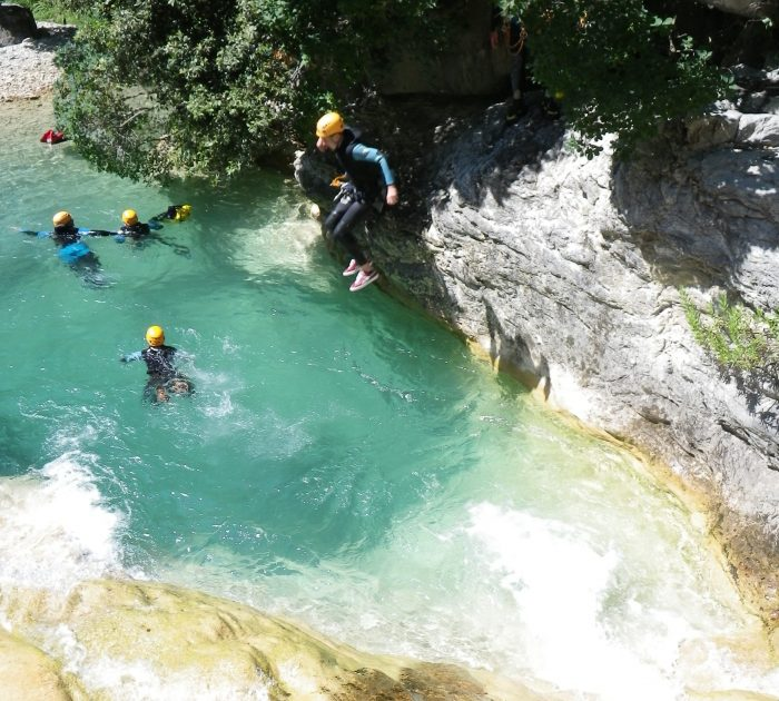 canyoning in barbaira french riviera