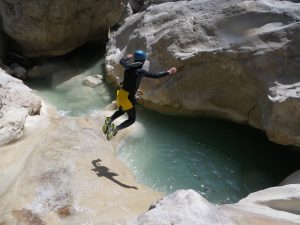 adventure in the alpes maritimes-Riolan canyon-Esteron