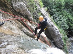 canyoning in the french riviera in the gorges du loup