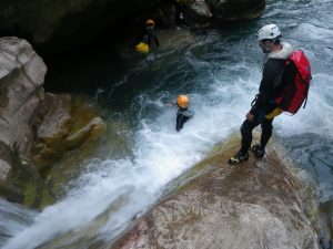 Start canyoning in Gorges du Loup-French riviera-Nice