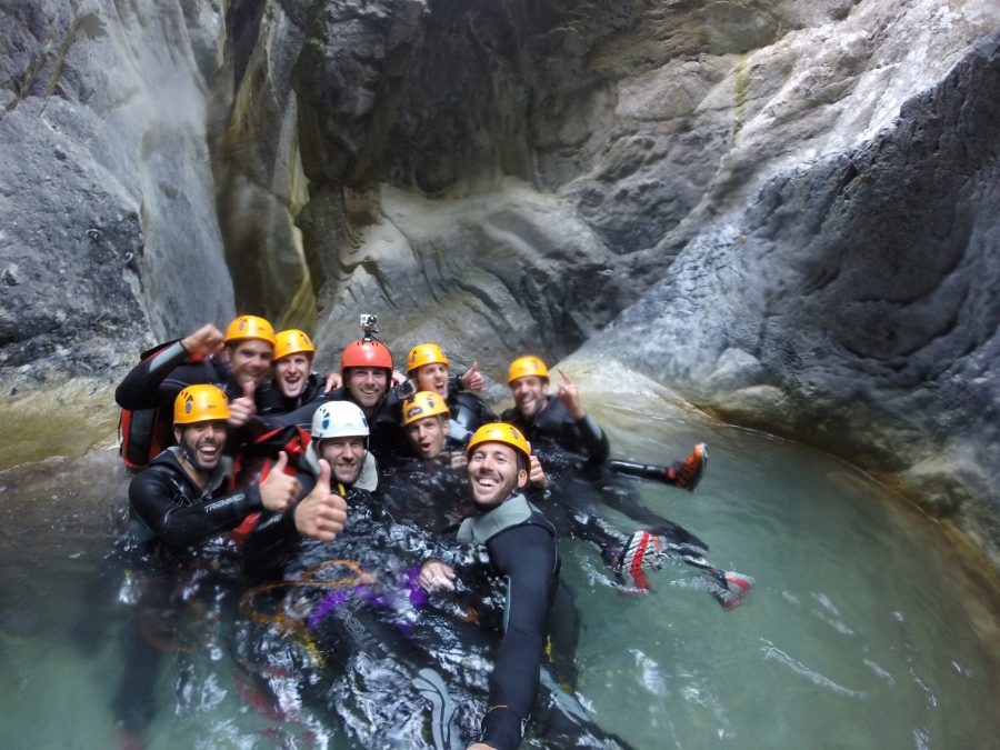 Extreme canyoning in La Maglia