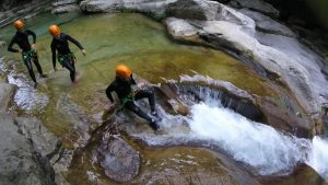 Aquatic hike in Nice - Gorges du Loup - Canyon06