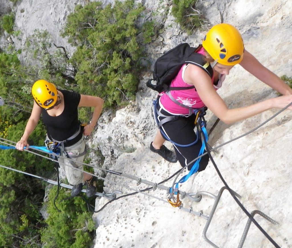 Bachelor party in Côte d'Azur-via ferrata in Nice-Canyon06