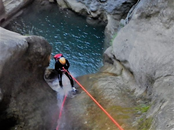 Abseiling in the Imberguet, full day canyoning trip near Nice