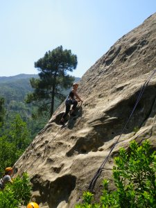 Outdoor sport activities for groups - rock climbing