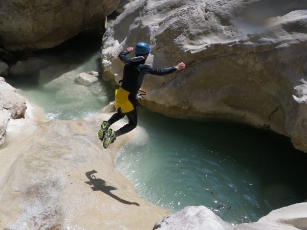 Riolan, one of the best extreme canyoneering trips in the Alpes Maritimes