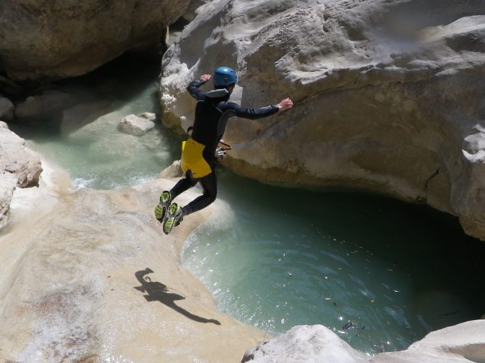 extreme canyoning trips in the french riviera