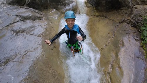Canyoning with children Nice Cote d'Azur