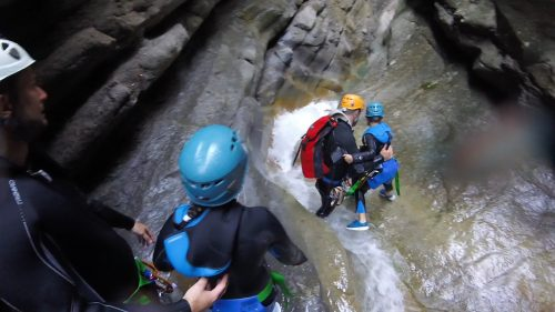 Easy canyoning with children in the French Riviera