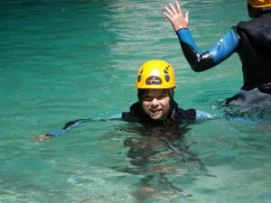 Canyoning with children near Nice-French Riviera