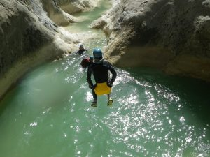 Canyoning in Riolan -Esteron valley in the French Riviera