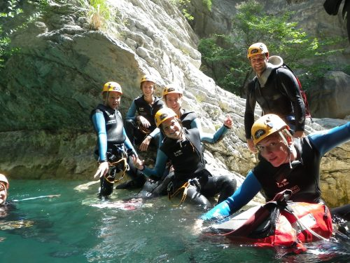 Easy canyoning trip for a family with chidren near Nice - 06